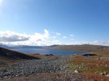 Le grand lac de Nordre Bjollavatn
