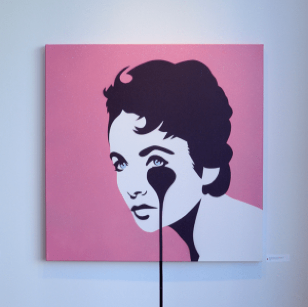 "A portrait of Liz Taylor titled ""Mike Todd's Nightmare"""