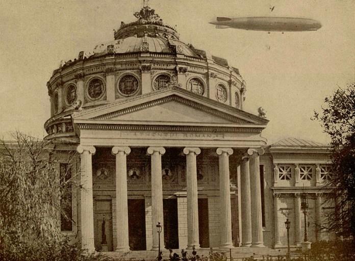 Zeppelin deasupra Bucureștiului 1929