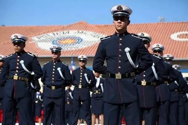 A formação da Academia do Barro Branco seleciona cadetes anualmente. (Foto: Divulgação).