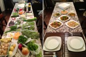 clase de cocina tailandesa, antes y después - before and after, thai cooking class