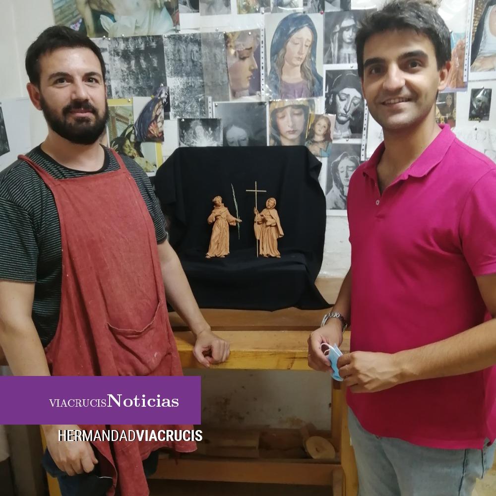 Ángel Asenjo avanza en las imágenes de Juan de Cetina y San Pedro Dueñas