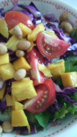 Fresh salad with mango