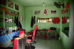 Beauty saloon in Pakse