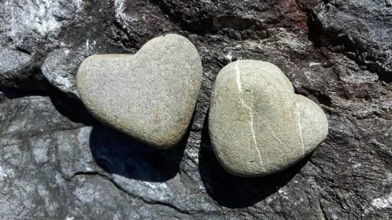 Heart-shaped stones