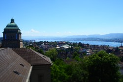 View of Zurich from ETH rooftop