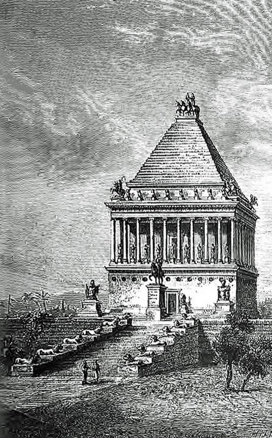 Le mausole du roi Mausole  Halicarnasse Bodrum en Anatolie