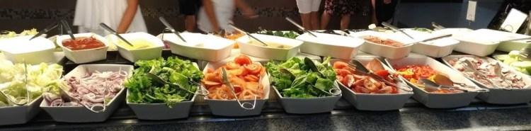 buffet saladas riu