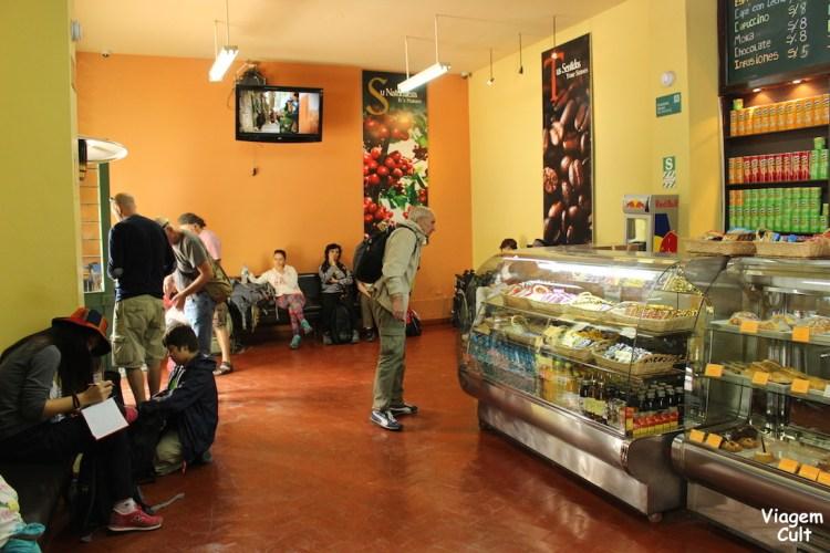 Essa é a sala de espera dos trens em Ollantaytambo