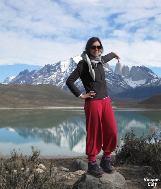 Na ponta do meu dedo estão as Torres del Paine