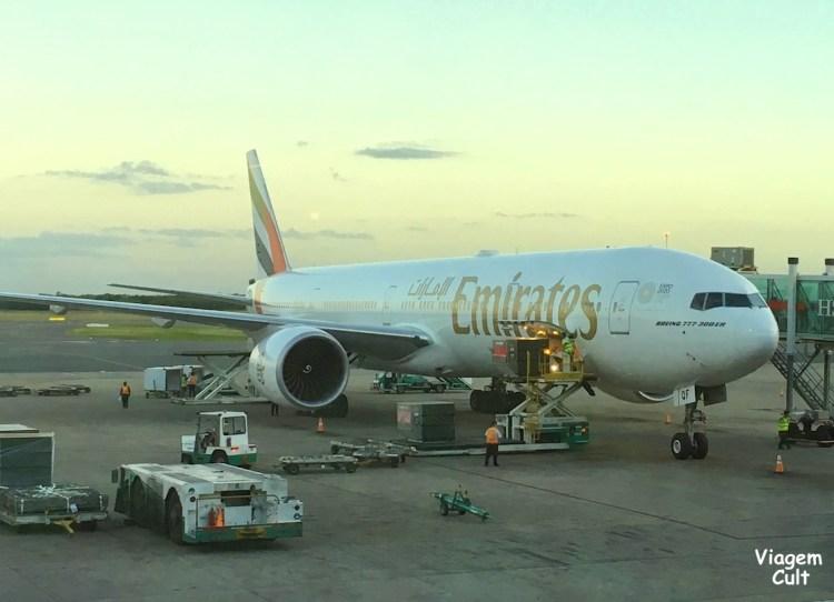 avião da Emirates