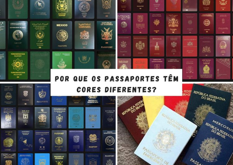 passaportes- cores diferentes