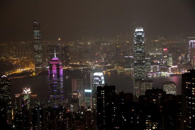 Hong Kong vista a partir de plataforma de observação do The Peak