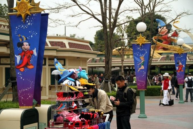 Entrada do parque da Disney de Hong Kong (foto: Eduardo Vessoni)