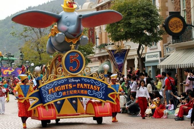 'Flight Parade', uma das atrações da Disney de Hong Kong (foto: Eduardo Vessoni)