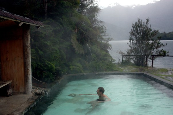 Piscina termal do Puyuhuapi Lodge & Spa, em Puyuhuapi, na Patagônia chilena (foto: Eduardo Vessoni)