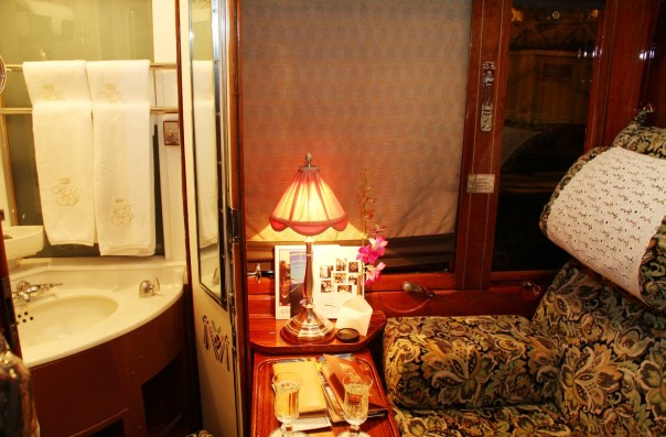 Vista da cabine do trem Orient-Express (foto: Eduardo Vessoni)