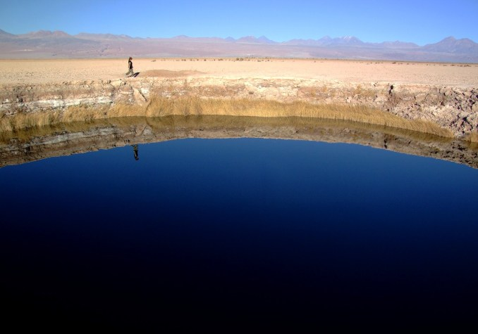 Ojos del Salar, no Deserto do Atacama (foto: Eduardo Vessoni)