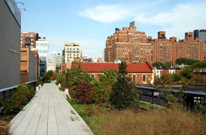 Vista do HighLine Park, em Nova York (foto: Eduardo Vessoni)
