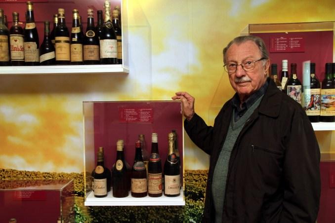 Rinaldo Dal Pizzol, no EcoMuseu da Cultura do Vinho, em Bento Gonçalves (foto: Eduardo Vessoni)