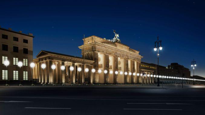 Instalação diante do Portão de Brandemburgo, em Berlim (foto: Daniel Büche/Divulgação)