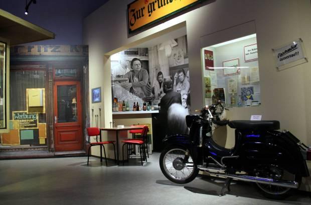 """Vista da exposição """"Vida cotidiana na DDR"""", em Berlim (foto: Eduardo Vessoni)"""