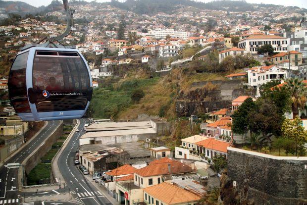 Teleférico em Funchal, capital da Ilha da Madeira, em Portugal (foto: Eduardo Vessoni)