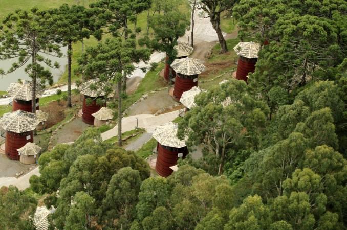 Vista aérea do Hotel Pampas, em Canela (foto: Eduardo Vessoni)