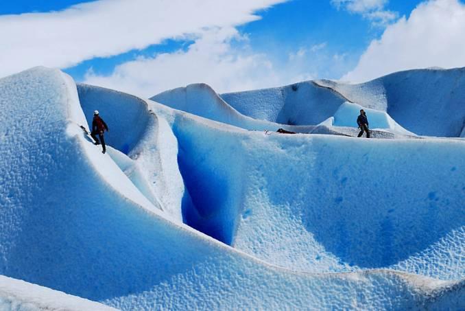 Escalada no glacial Grey, na Pataônia Chilena (foto: Davidlohr Bueso/Flickr-Creative Commons)