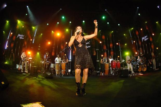 Daniela Mercury, durante apresentação no Monbtreux Jazz Festival, na Suíça (foto: FFJM/Lionel Flusin)