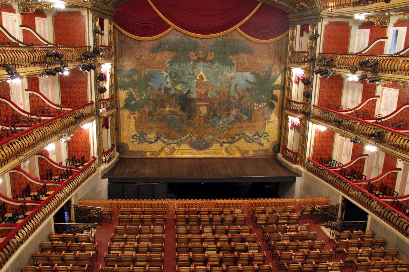 Theatro da Paz, em Belém, capital do Pará (foto: Eduardo Vessoni)
