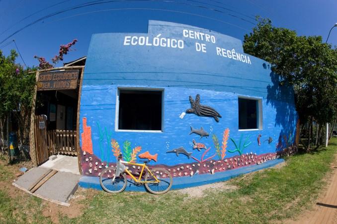 O litoral capixaba abriga outro centro de visitantes em Regência, distrito de Linhares. O local conta com trilhas educativas em área de restinga e um aquário de água doce, com 9 mil litros d'água (foto: Projeto Tamar/Divulgação)