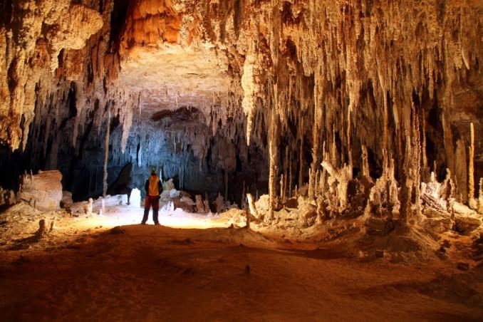 Interior da São Bernardo, uma das cavernas do complexo de Terra Ronca, no extremo nordeste de Goiás (foto: Eduardo Vessoni)