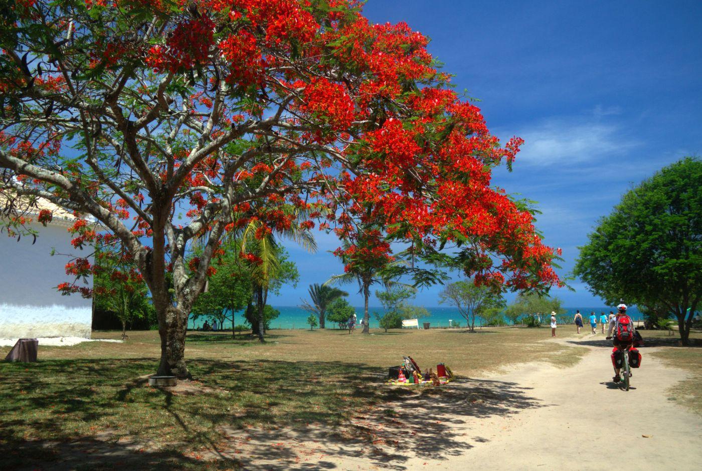 Vista lateral do Quadrado, praça principal de Trancoso, no sul da Bahia (foto: Eduardo Vessoni)