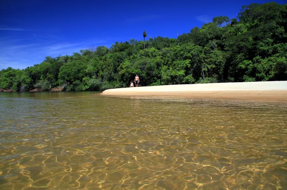 Prainha da Cachoeira da Velha, no Tocantins (foto: Eduardo Vessoni)