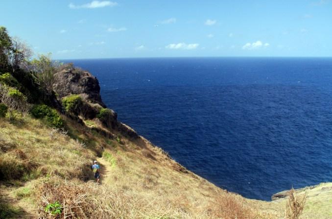 Início do trecho da trilha Capim Açu, no Mar de Fora (foto: Eduardo Vessoni)
