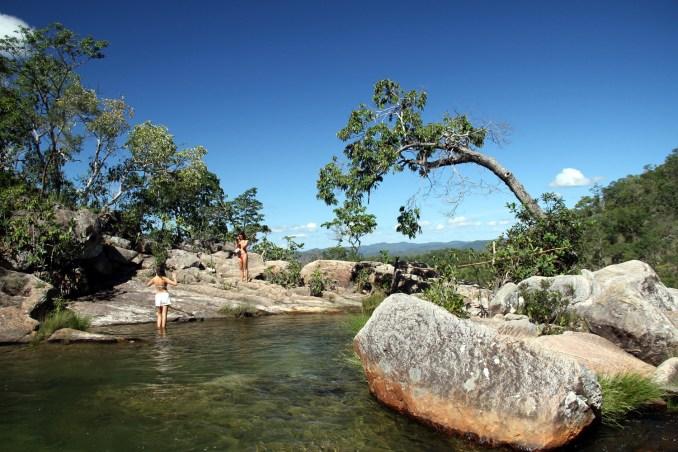 Vista da trilha de acesso à Cachoeira Capivara, em Cavalcante (foto: Eduardo Vessoni)