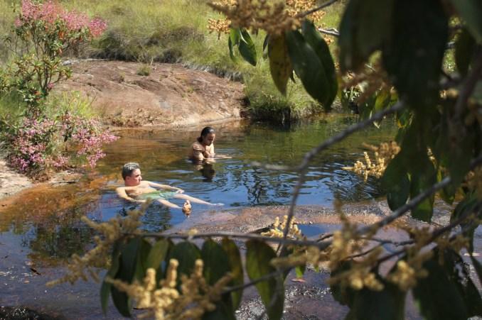 Piscinas naturais da Trilha do Vale Encantado, em Goiás (foto: Eduardo Vessoni)
