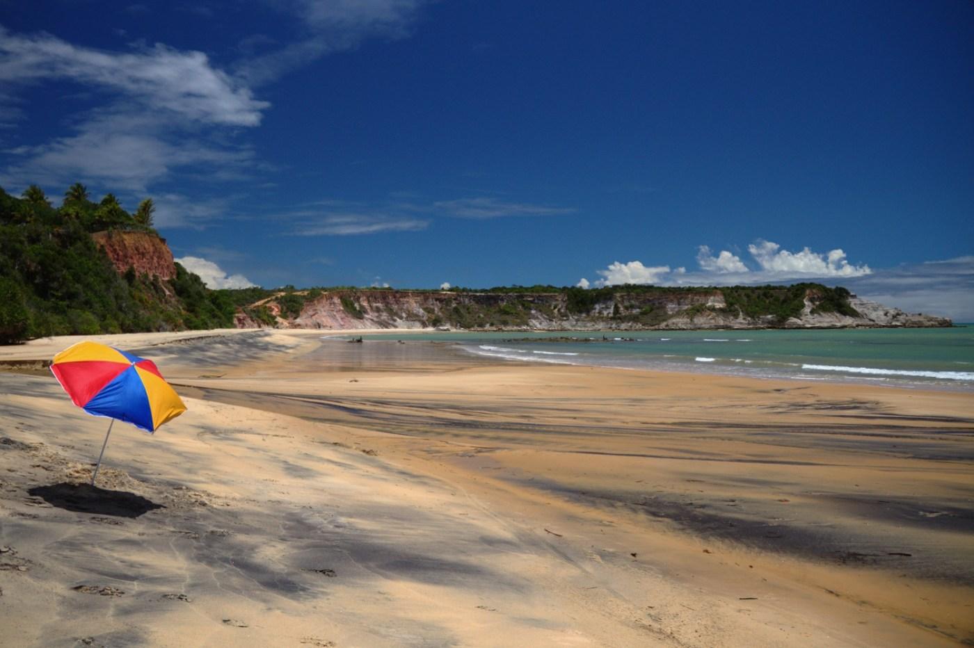 Juacema, paia a 3 km de Caraíva com piscinas naturais e mergulhos em águas doces, na Lagoa do Satu, no sul da Bahia (foto: Eduardo Vessoni)