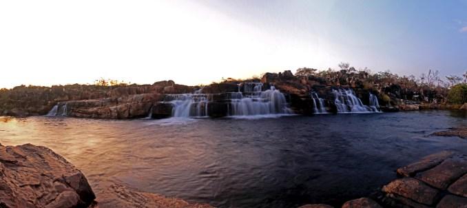 Cachoeira das Sete Quedas, na Chapada dos Veadeiros (foto: Edson Faria Junior/Wikimedia Commons)