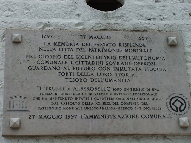 Alberobello na Itália, região Apúlia (Puglia), sul do país.