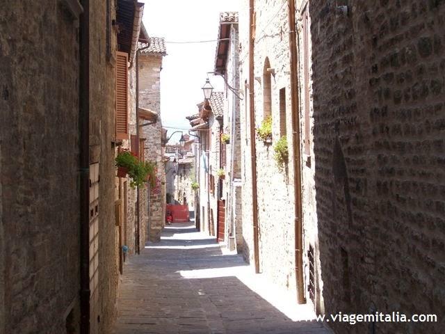 Gubbio, cidade medieval na Úmbria, centro da Itália
