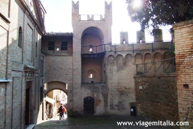 Castelo de Gradara, na Itália. Província de Pesaro-Urbino