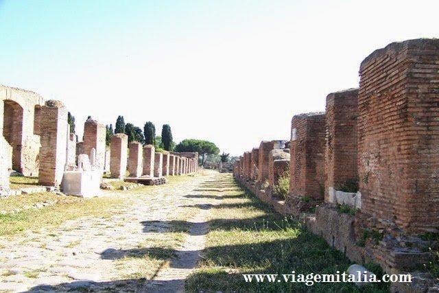 Monumentos italianos mais visitados. Ostia Antica (Antiga)