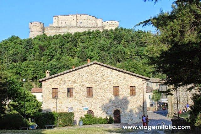 Burgo de San Leo na Itália, região Emília-Romanha