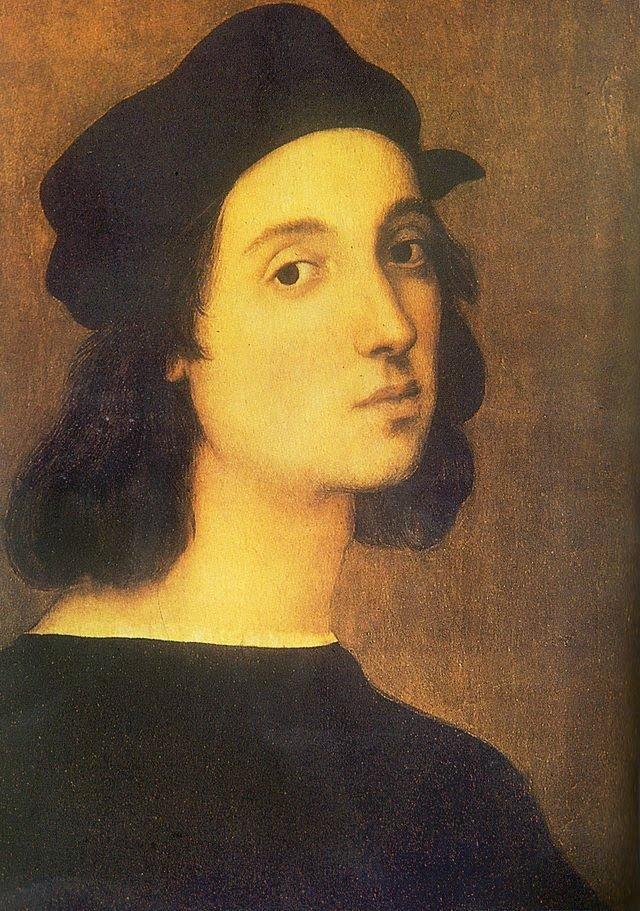 Autorretrato de Rafael Sanzio, artista italiano