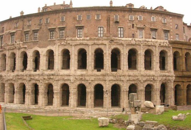 História do teatro na Roma Antiga - Teatro Marcelo em Roma. Teatro Marcelo em Roma