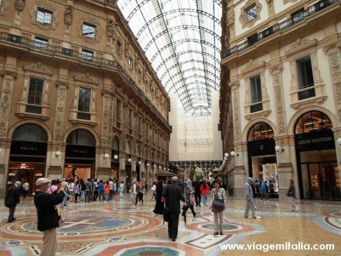 O que fazer em Milão. Galeria Vittorio Emanuele