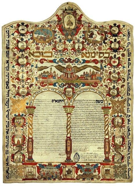 História dos hebreus em Veneza: contrato de casamento judeu