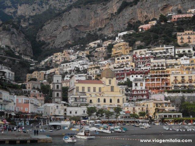 De Positano a Capri de barco